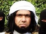 Shakir Wahiyib, centre, is unusual in the ISIS army that he will appear on camera without covering his face