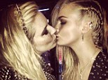 Close friends: Their close friendship and Sienna 'always kissing Cara' caused an issue with Cara's ex-girlfriend Michelle Rodroguez, a source said