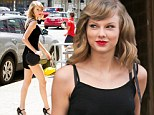 Legs eleven! Taylor Swift shows off the results of her workout as she embraces the New York sunshine in a cute black romper