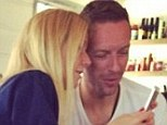 Consciously cosy: Gwyneth Paltrow and Chris Martin were spotted enjoying a close meal in an Instagram photo shared on Sunday
