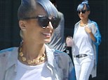Trendsetter Nicole Richie debuts new bright blue tresses on outing in LA after trading in her lilac locks
