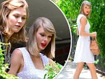 Tapping into their green thumbs! Gal pals Karlie Kloss and Taylor Swift tend to potted plants in New York City