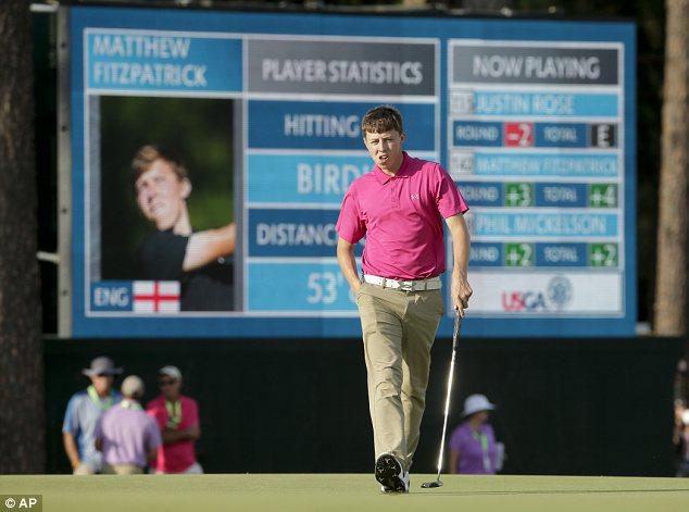 Impressive: English amateur Matthew Fitzpatrick made the cut at Pinehurst