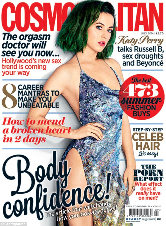 All around the world: Katy debuted her new green tresses on the cover of Cosmopolitan magazine. The issue marks the first with the same cover girl on every International cover