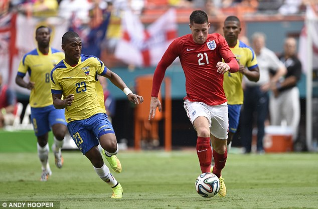 Raw: Players such as Ross Barkley (right) need game time at the World Cup or at youth level tournaments