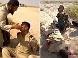 'Execution': An Iraqi soldier (centre) is taunted, made to repeat what is believed to be a jihadist slogan, then killed
