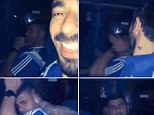 Victim: Ezequiel Lavezzi slapped a member of Argentina's staff on the team bus after they beat Bosnia-Herzegovina, which was filmed by Lionel Messi