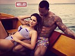 In love: Kelly Brooke and her man are the new stars of Hello! magazine, in which they discuss their relationship
