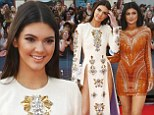 Kendall Jenner, 18, dresses to shock in gown slashed to reveal her pelvic bones as she joins little sister Kylie at MuchMusic Awards