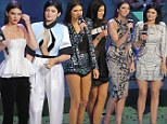 Kendall and Kylie get a LOT of help as they co-host their first awards show¿ but they certainly make an effort with three outfit changes