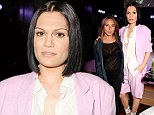 Think pink: Jessie J wears pastel coloured jacket and shorts to the Esquire & DKNY MEN LCM opening party with Chloe Green