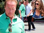 Arnold Schwarzenegger spends Father's Day with his four children... AND estranged wife Maria Shriver
