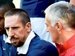 Absent: France winger Franck Ribery (left) has revealed he turned down a cortisone injection