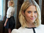 Changing it up! Ashley Benson ditches casual style for chic black-and-white outfit at Pretty Little Liars press conference