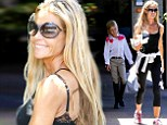 Denise Richards shows off her trim figure in workout gear while out to breakfast with daughter Lola as moving day looms ahead