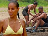 Jada Pinkett Smith, 42, parades her athletic figure as she helps husband Will rub lotion into his body during Hawaii getaway
