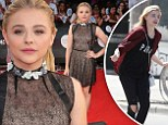 A tale of two outfits: Chloë Grace Moretz goes from grungy to glam as she attends MuchMusic Awards in Toronto