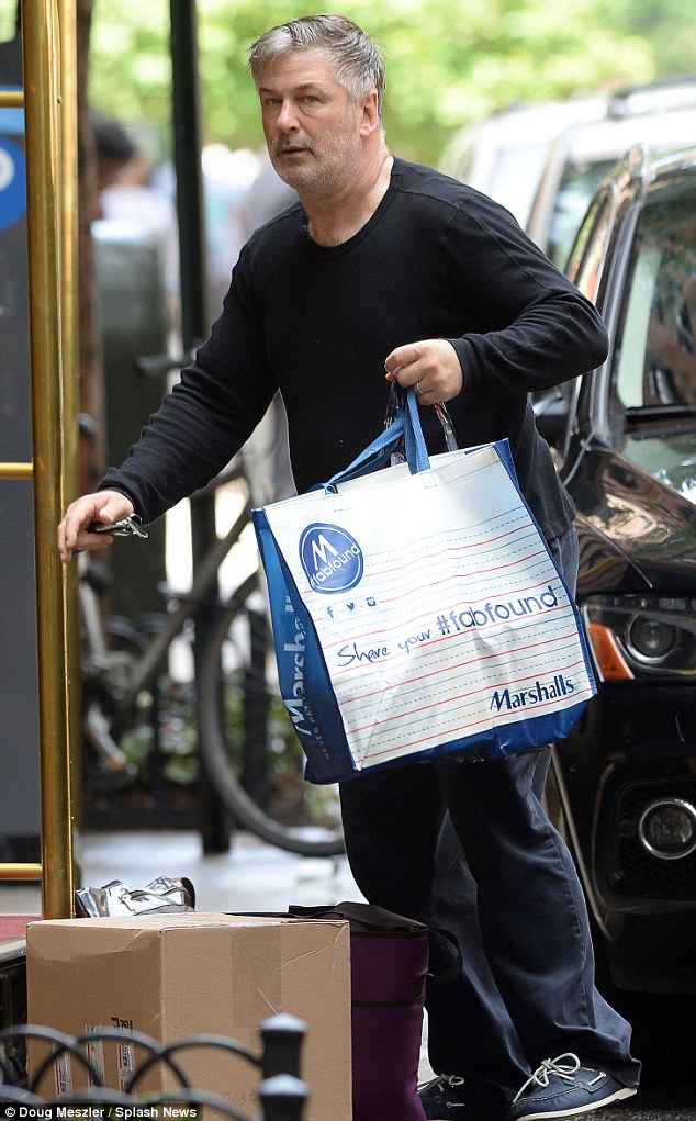 He shops at Marshalls?: The iconic character actor was carrying a bag from a discount store as he left his luxury pad