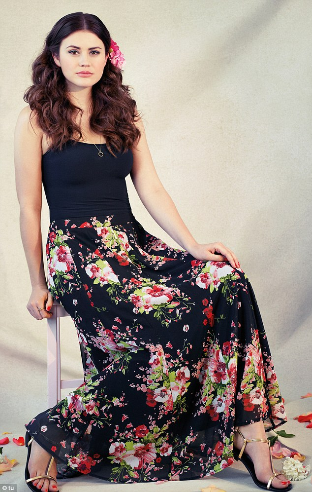 Flattering the female form: Gok aimed to bring an elegant touch of romance to the range with his floral designs (vest, £20 for a pack of three, skirt, £30)