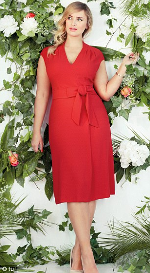 Red lady: The colour palette is full of romantic deep reds and bows aim to bring a touch of elegance