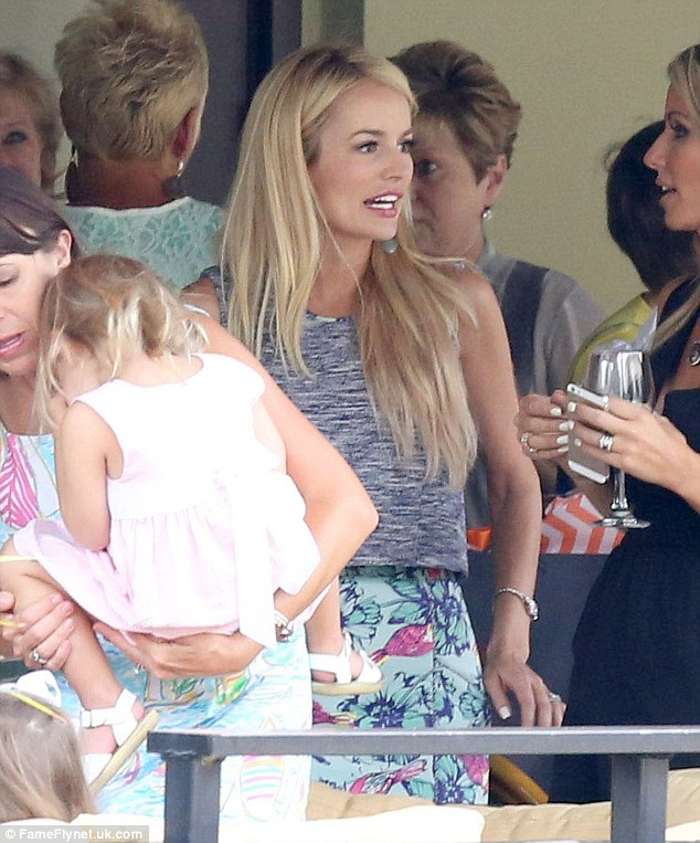 Pre-wedding party: Emily got together with friends and family for a party ahead of her marriage to Tyler Johnson