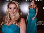 Fresh and green: Claire Sweeney is the picture of health as she showcases baby bump at Jersey Boys screening
