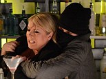 Senseless: a hooded assailant with a remarkable resemblance to the bouncer that Sharon had just fired tries to stop her from having any more drink, crying: 'leave it ! It's for your own good luv'