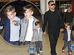Ricky Martin arrives in Sydney with twin sons Matteo and Valentino just in time for live filming of The Voice Australia