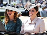 Sister sister: Princess's Beatrice and Eugenie arrived together on the opening day of Royal Ascot looking chic, as always