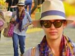 Hatagirl! Jessica Alba looks fabulous in fancy fedora as she goes shopping in Beverly Hills