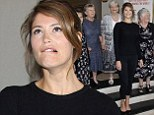 You can't do that on stage! Gemma Arterton pulls odd expression at Made in Dagenham musical launch alongside women in which the show is based