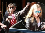 Mick Jagger and daughter Georgia leave Vienna hotel
