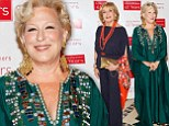 Making her green with envy! Bette Midler leaves rival Barbara Walters in the shade in shimmering gown at charity event