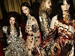 High-profile: Kendall Jenner (far left) has landed a role in the new Givenchy fall/winter campaign