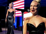 This one's to you Mr. President! Sia Furler steals the show in sultry black dress while singing to Barack Obama at LGBT Gala