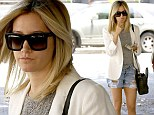 Look at these! Ashley Tisdale showed off her lean legs in a pair of tattered denim shorts as she arrived at Nine Zero One salon in West Hollywood, California on Tuesday