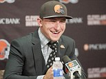 Cleveland Browns draft pick Johnny Manziel just signed a four year contract with the NFL team