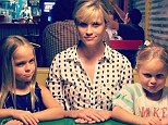 Reese's nieces! Witherspoon wins favourite aunt as she and her mini-me relatives get very serious about hot dogs