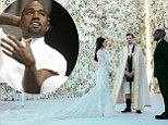 'The flowers were off color!' Kanye West reveals Kim's Givenchy wedding gown was supposed to match that grand wall of roses