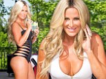 Kim Zolciak, 36, shows off phenomenal post-pregnancy body in racy swimsuits just six months after giving birth to twins