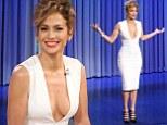 'I felt like she was sad': Jennifer Lopez turns heads in plunging white dress on The Tonight Show as she discusses Jennifer Lawrence dance snub