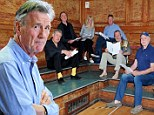 Monty Python star pictured together at the first rehearsal for sold out reunion comedy shows¿ as it is revealed final date will air live on TV