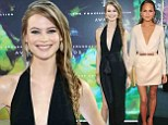 Battle of the supermodels! Behati Prinsloo and Chrissy Teigen compete for attention in plunging gowns at Fragrance Foundation Awards