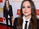 'I am so proud to be part of TrevorLIVE and support the lifesaving work': Ellen Page suits up to attend LGBTQ gala event