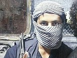 Jihadist: Abu Abdullah al-Britani (pictured) uses the Ask.fm website to advise others in the UK