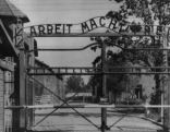 This undated file image shows the main gate of the Nazi concentration camp Auschwitz I Poland, which was liberated by the Russians in January 1945