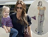 'I'm such a proud mummy!': Victoria Beckham shares snap of two-year-old fashionista Harper's artwork