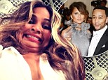 She'll produce beautiful children! Chrissy Teigen pulls an ugly face on Instagram... after saying she's 'not ready for kids' with John Legend