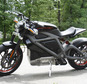 This Wednesday, June 18, 2014 photo shows Harley-Davidson's new electric motorcycle at the company's research facility in Wauwatosa, Wis. The company plans t...
