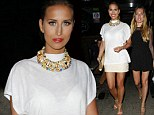 Ferne McCann shows off her tanned legs in cream mini skirt as she enjoys night out with new TOWIE cast mates Robyn Althesan and Imogen Leaver